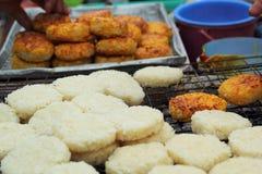 Ryżowi torty w Asia, Asia jedzeniu - Zdjęcie Stock