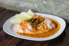 Ryżowi wermiszel z curry'ego kumberlandem Zdjęcie Royalty Free
