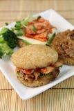 Ryżowy hamburger Zdjęcie Royalty Free