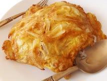 Ryżowy i Cebulkowy omlet Zdjęcia Royalty Free