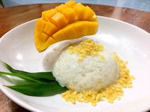 Ryżowy kleisty mango Zdjęcie Royalty Free
