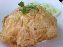 Ryżowy omlet Zdjęcie Royalty Free