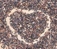Ryżowy serce Fotografia Stock
