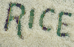 Ryż ziarna Fotografia Stock