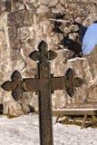 Rya教堂坟墓标志 免版税库存照片