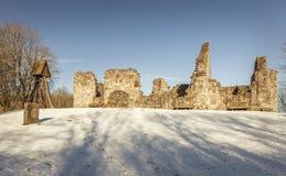 Rya教堂废墟 图库摄影