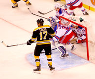 Ryan Callahan in the net (NY Rangers) Stock Images