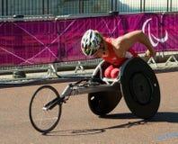 Ryan Chalmers (USA) i den Paralympics mensen 2012 T Arkivfoto