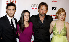 Ryan Eggold, Courteney Cox, Jeffrey Nordling and Alexandre Breckenridge Royalty Free Stock Photo