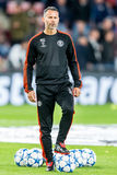 Ryan Giggs with champions league balls Stock Photography