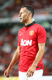 Ryan Giggs (R) of Man Utd. Bangkok - July 13:Ryan Giggs (R) of Man Utd. in action during Singha 80th Anniversary Cup Manchester United vs Singha All Star at Royalty Free Stock Photo