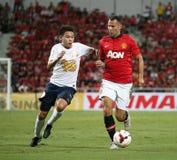Ryan Giggs (R) of Man Utd. Stock Photo