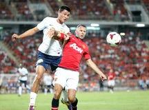 Ryan Giggs (R) of Man Utd. Stock Photos