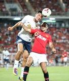 Ryan Giggs (R) of Man Utd. Royalty Free Stock Photos