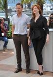 Ryan Gosling et Christina Hendricks Image stock
