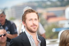Ryan Gosling. Making selfies at The Nice Guys' photocall during the 69th annual Cannes Film Festival at the Palais des Festivals on May 15, 2016 in Cannes Royalty Free Stock Photography