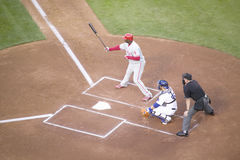 Ryan Howard,. Philadelphia Phillies Ryan Howard, #6, left hand batter and National League Home Run and RBI Champion, Dodger Stadium, Los Angeles, CA on October royalty free stock photography