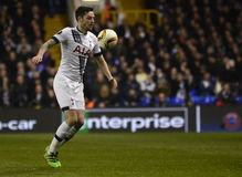 Ryan Mason. Football players pictured during UEFA Europa League round of 16 game between Tottenham Hotspur and Borussia Dortmund on March 17, 2016 at White Hart Stock Photo