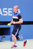 Ryan McIntosh, the US soldier veteran and amputee, who serves as a US Open ballboy during  US Open 2015 Stock Images