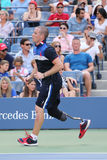 Ryan McIntosh, the US soldier veteran and amputee, who serves as a US Open ballboy during  US Open 2015 Royalty Free Stock Image