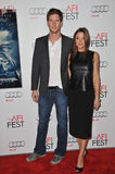 Ryan McPartlin & wife Danielle  Stock Image
