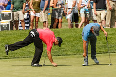 Ryan Moore and Scott Brown at the Memorial Tournament Royalty Free Stock Photos