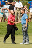 Ryan Moore and Scott Brown at the Memorial Tournament Stock Photography