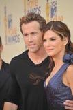Ryan Reynolds, Sandra-Ochse lizenzfreie stockbilder