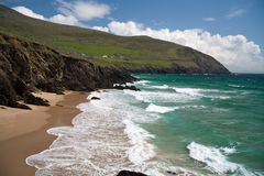 Ryan's daughter. A famous beach in Ireland Royalty Free Stock Images