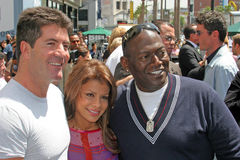 Ryan Seacrest,Randy Jackson,Jacksons,Simon Cowell,Paula Abdul Stock Photography