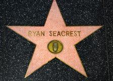 Ryan Seacrest Star auf dem Hollywood-Weg des Ruhmes lizenzfreie stockfotos