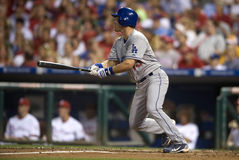 Ryan Theriot. Second baseman Los Angeles Dodgers at bat in Philadelphia. 2010 Stock Photo