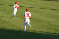Ryan Zimmerman and Rick Ankiel Royalty Free Stock Photos