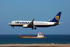 Ryanair波音737-800 免版税图库摄影