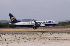 ryanair посадки Боинга Стоковая Фотография RF