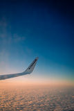 Ryanair above the clouds Royalty Free Stock Photo