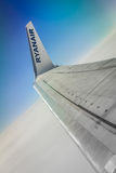 Ryanair above the clouds Royalty Free Stock Photography