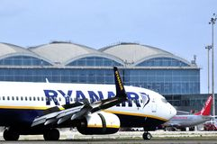 Ryanair air lines low cost from ireland air comercial company Royalty Free Stock Photos