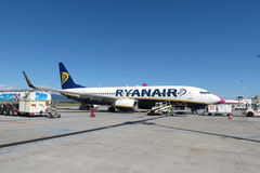 Ryanair aircraft Boeing 737-800 Royalty Free Stock Images