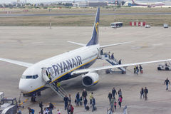 Ryanair Aircraft at the Gate Stock Photos