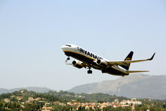 Ryanair aircraft takes off Royalty Free Stock Photo