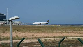 Ryanair Alicante airport stock video