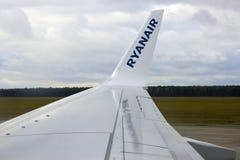 Ryanair auf der Rollbahn Stockbild