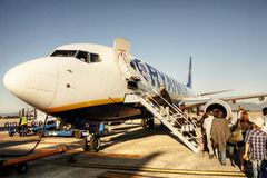 Ryanair boarding Stock Photo