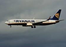Ryanair Boeing 737 Immagini Stock Libere da Diritti
