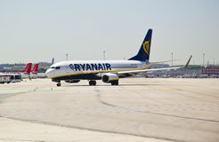 Ryanair, Boeing 737-800 Taxiing Royalty Free Stock Photo