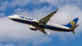 Ryanair, Boeing 737, aerei, aeroporto immagini stock