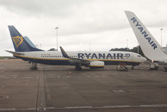 Ryanair Boeing 737-800 garé dans Bristol Images stock