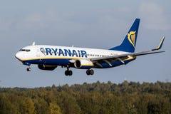Ryanair Boeing 737 nivå Royaltyfri Bild