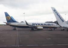 RyanAir Boeing 737-800 parked in Bristol Stock Photos